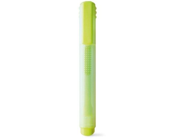 Fluorescente ligero con tapa y clip personalizado amarillo