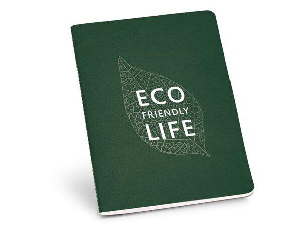 Cuaderno con tapas de colores en a5 verde oscuro