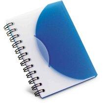 Libreta pequeña de colores personalizada azul