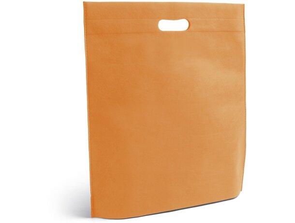 Bolsa de feria plana personalizada naranja