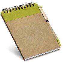 Bloc de notas pequeño con bolígrafo ecológico