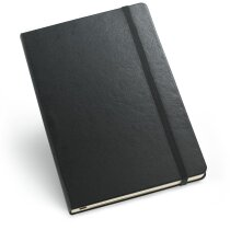 Bloc de notas con bolsillo interior negra