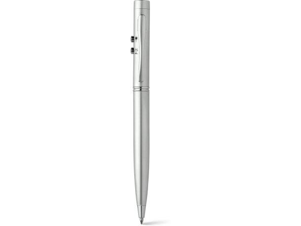Bolígrafo metalizado con puntero láser y luz