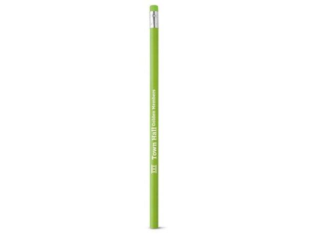 Lápiz con goma de colores verde claro