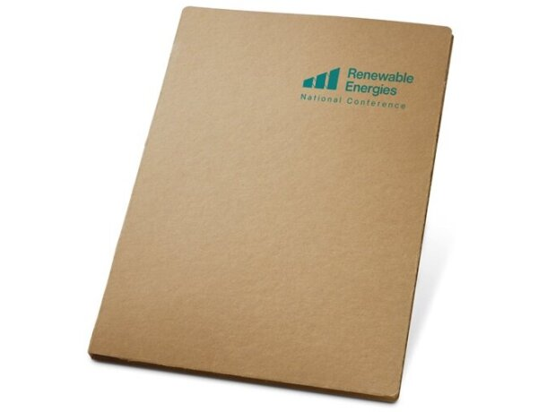 Carpeta de cartón con bolsillo interior natural