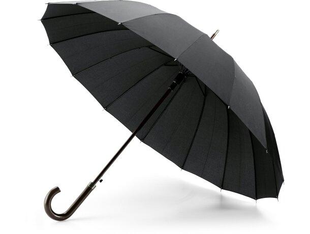 Paraguas con 16 varillas personalizado negro