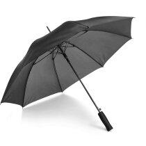 Paraguas con estructura de fibra de cristal personalizado negro
