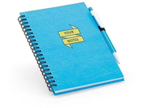 Libreta con tapas de colores de cartón azul claro