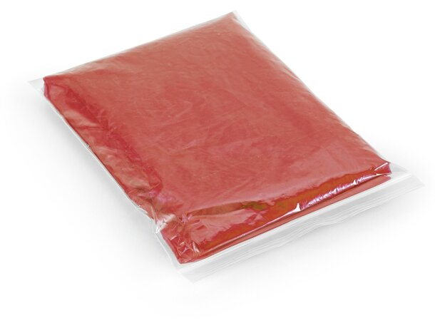 Poncho chubasquero de colores personalizado rojo