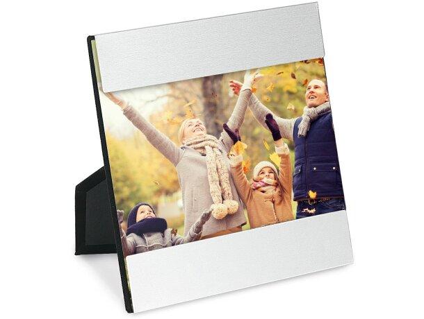 Portafotos 135x75 mm personalizado cromado satinado