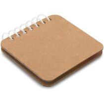 Bloc ecológico con notas adhesivas personalizada natural