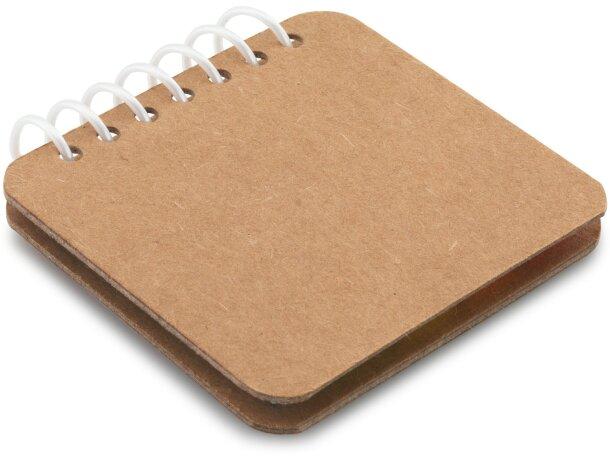 Bloc ecológico con notas barato adhesivas personalizada natural