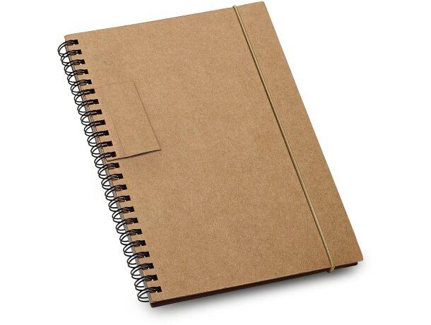 Libreta con bolígrafo A5 en cartón reciclado barata negra