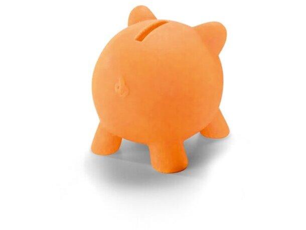 Hucha de plástico mini de colores naranja