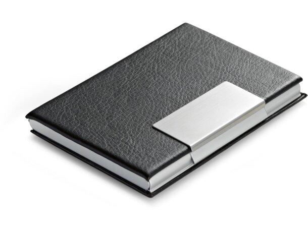 Porta-tarjetas con detalles de aluminio barato negro