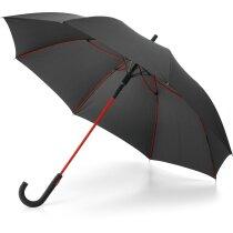 Paraguas de poliester con funda personalizado rojo
