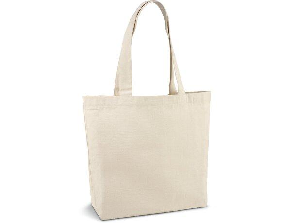 Bolsa de lona de algodón con bolsillo interior natural