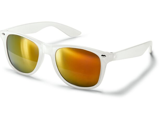 Gafas de sol transparentes con lentes de espejo naranja personalizado