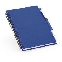 Libreta con tapas de colores de cartón personalizada azul