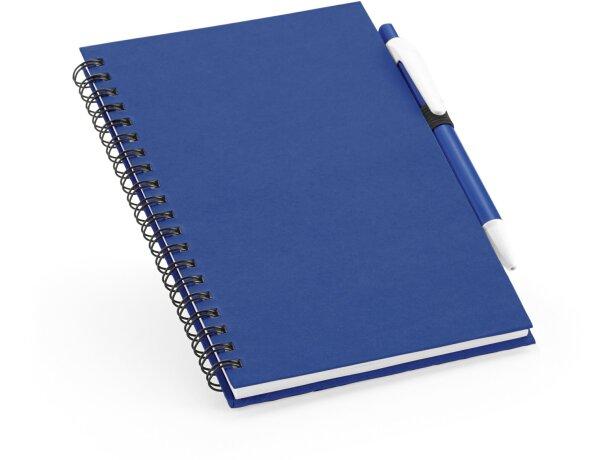 Libreta con tapas de colores de cartón azul