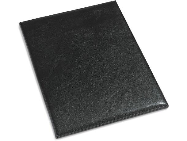 Porta menús sencillo en PVC negro