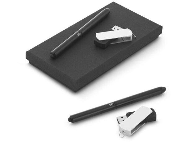 Kit de bolígrafo y memoria usb personalizado