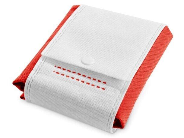 Bolsa de no tejido plegable rojo