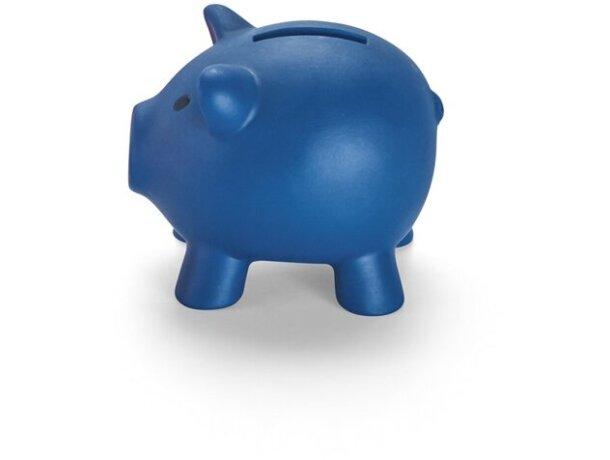 Hucha de plástico mini de colores azul