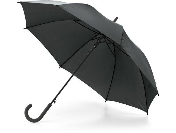 Paraguas mango de plastico economico negro
