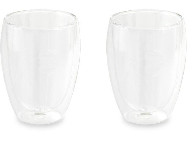 conjunto tazas isotérmicas transparente