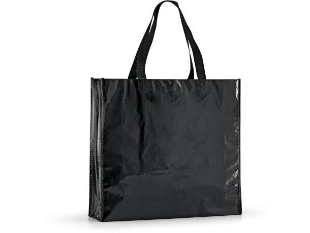 Bolsa de non woven laminado brillante negra