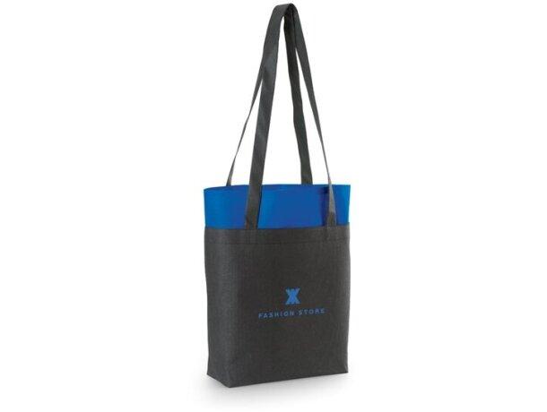 Bolsa bicolor non woven 105 gr / m2 azul royal