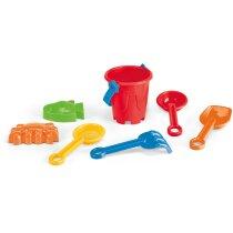 Cubo De Playa Con Accesorios Personalizado Rojo