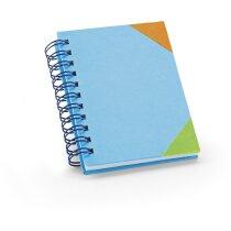 Libreta infantil de colores azul claro