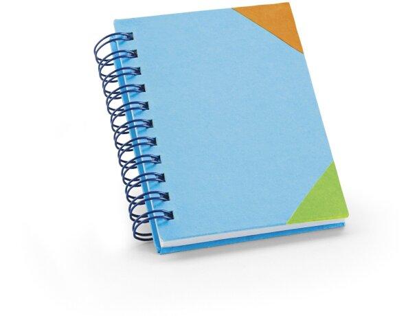 Libreta infantil de colores personalizada azul claro