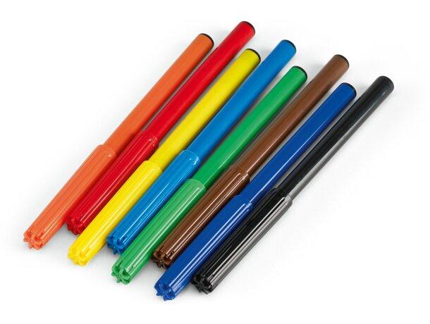 Estuche de 8 rotuladores de colores personalizado