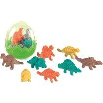 Set de gomas de borrar motivos de dinosaurios personalizado verde claro