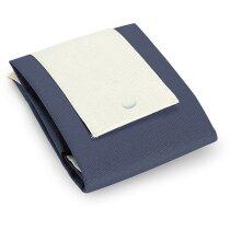 Bolsa plegable de nonwoven personalizada azul