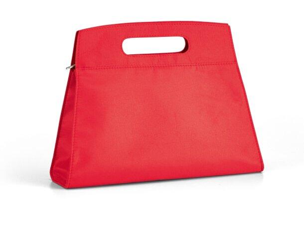 Neceser de microfibra con bolsillos interiores personalizada roja