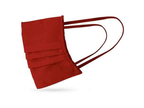 Grance. mascarilla textil reutilizable rojo