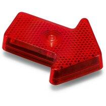 Luz reflectante en forma de flecha personalizado rojo