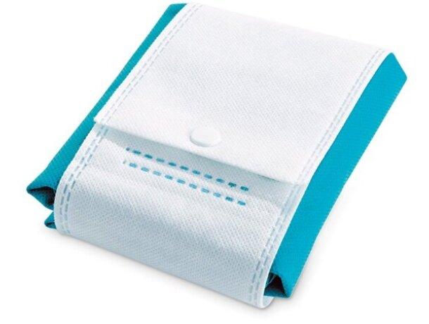 Bolsa de no tejido plegable azul claro