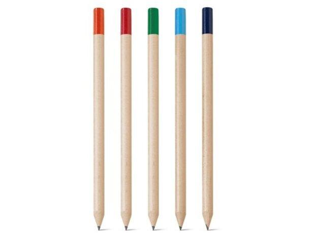 Lápiz en madera con color en la parte de arriba personalizado
