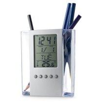 Porta lápices con estación meteorológica
