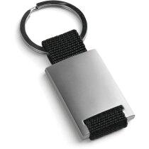 Llavero de metal personalizado negro