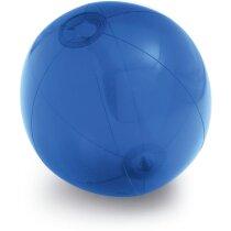 Balón hinchable translúcido azul
