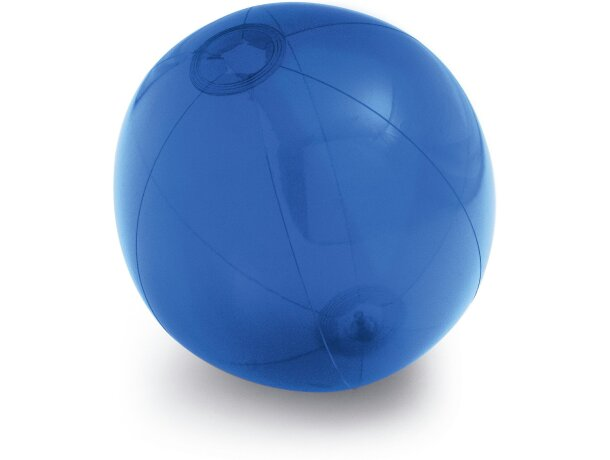 Balón hinchable translúcido personalizado azul