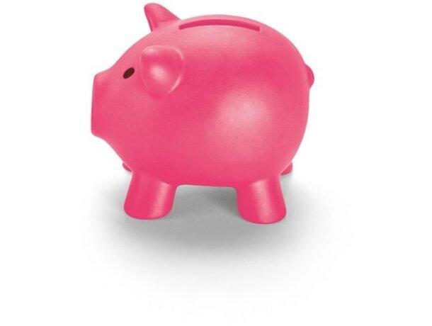 Hucha de plástico mini de colores rosa