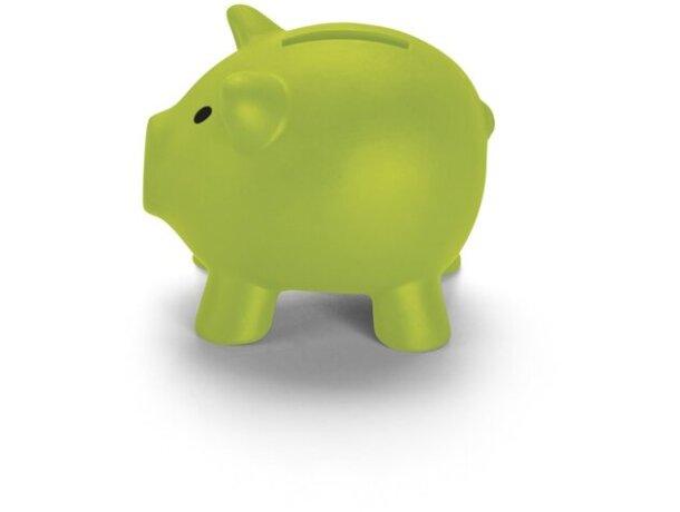 Hucha de plástico mini de colores verde claro