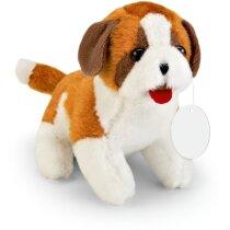 Perro marrón y blanco de peluche personalizado marron